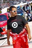 NASCAR-chaufförJuan Pablo Montoya Pre Race Royaltyfria Foton