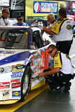 NASCAR - checking the quarter panels Royalty Free Stock Images