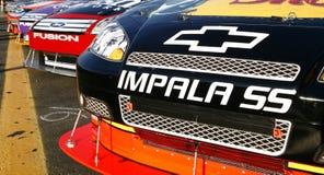 NASCAR - Chevy contra Ford Imagen de archivo libre de regalías