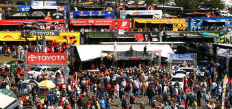 NASCAR - Colorful sea of fans at Martinsville Stock Image