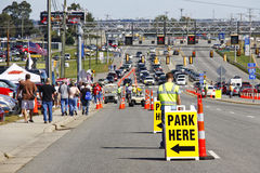 NASCAR - Corra il parcheggio Fotografia Stock Libera da Diritti