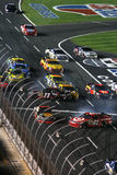 NASCAR - crash on the restart! Stock Images