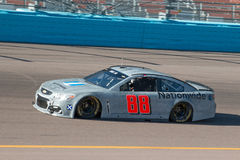 NASCAR Dale Earnhardt Jr. Returns. After a six month absence due to a serious concussion, Dale Earnhardt Jr. returns to his car number 88 for testing sessions at Stock Photography