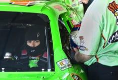 NASCAR Danica Patrick. NASCAR driver  Danica Patrick about ready to take a lap at the Daytona International Speedway Stock Photography