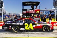 NASCAR - De Gordon de #24 rectángulo del hueco de la raza pre Imágenes de archivo libres de regalías