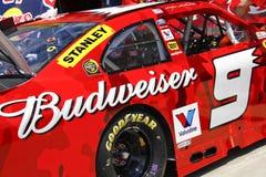NASCAR - de Schijnwerper van het Sponsoring stock afbeeldingen