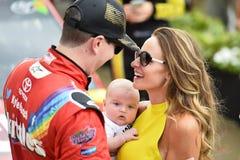 NASCAR: Den Juli 26 kronakungliga personen framlägger Jeff Kyle 400 på brickyarden Royaltyfri Foto