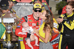 NASCAR: Den Juli 26 kronakungliga personen framlägger Jeff Kyle 400 på brickyarden Royaltyfria Bilder