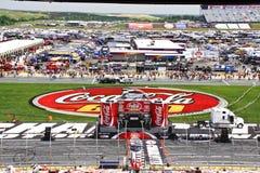 NASCAR die - het Stadium voor Coca-cola 600 plaatst stock afbeelding
