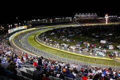 NASCAR - Draai 2 de Speedwaybaan van de Motor van Charlotte royalty-vrije stock afbeeldingen