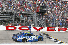 NASCAR: Drev för Juni 04 amerikanska motorförbundet 400 för autism Arkivbilder
