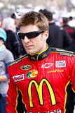 NASCAR Driver Jamie McMurray. Jamie McMurray driver of the #1 McDonald's Earnhardt Ganassi Racing Chevrolet as he walks down pit road minutes before the start of Royalty Free Stock Photos