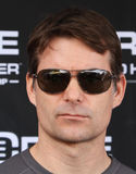 NASCAR Driver Jeff Gordon. Headshot of NASCAR driver Jeff Gordon with sunglasses and a serious look Stock Images