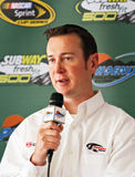 NASCAR Driver Kurt Busch. NASCAR race car driver Kurt Busch at press conference during the February 2011 NASCAR Sprint Cup Subway 500 race at Phoenix Royalty Free Stock Images