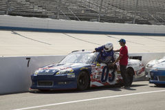 Nascar driver on pit row Stock Image