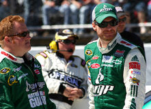 NASCAR - Earnhardt Talks Strategy Royalty Free Stock Photo