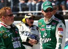 NASCAR - Earnhardt Talks Strategy Royalty Free Stock Photo