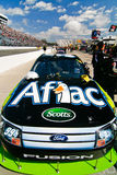 NASCAR -Edwards #99 Aflac Ford Hood Royalty Free Stock Images