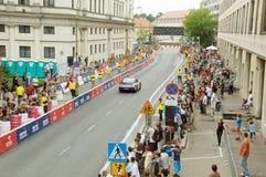 NASCAR en la calle de Verva que compite con 2011 Imagen de archivo libre de regalías