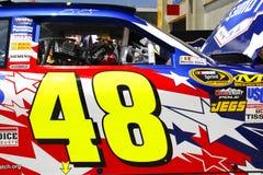 NASCAR - Etiqueta de la puerta de #48 de Johnson Fotografía de archivo libre de regalías