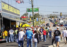 NASCAR - Fans Crowd Vendor Displays Stock Photography