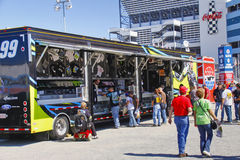 NASCAR - Fans at Edwards Souvenir Trailer Stock Photography