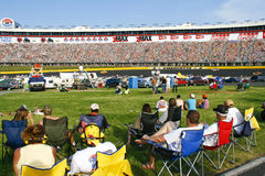 NASCAR - fans in the infield and stands Royalty Free Stock Image