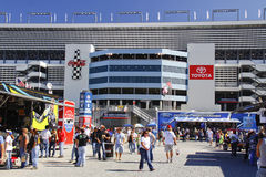 NASCAR - Fans Outside Charlotte Motor Speedway Stock Photos