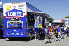 NASCAR - Fans Shop at Johnson'sTrailer Stock Photos