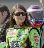 NASCAR:  February 20 Stater Bros 300. Fontana, CA - February 20, 2010:  Godaddy girl, Danica Patrick, gets ready to start the Stater Bros 300 race at the Auto Stock Photography