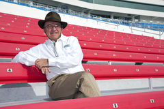NASCAR:  February 26 Shelby American GT 350. Las Vegas, NV - February 26, 2010:  NASCAR owner, Jack Roush, poses for an photo at the Las Vegas Motor Speedway in Royalty Free Stock Images
