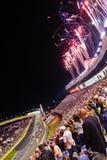 NASCAR - Fogos-de-artifício por sua vez 2 em Charlotte Fotos de Stock