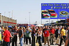 NASCAR - Garage Tours Are Very Popular Royalty Free Stock Images