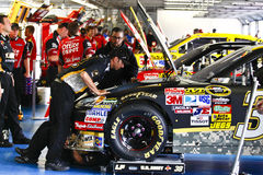 NASCAR - In the Garage Under the Hood Royalty Free Stock Photography