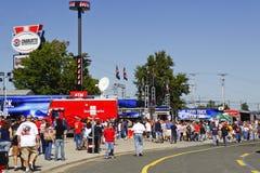 NASCAR - Gebläse und Anziehungskräfte in Charlotte Stockbild