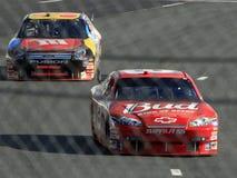 NASCAR - Gilliland Chases Jr Stock Photos