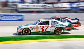 NASCAR Gilliland in de #37 Doorwaadbare plaats van de Berg van Gander Stock Foto