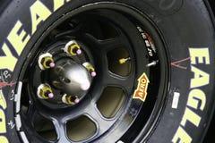 NASCAR - Goodyear Eagle 2010 All Star Race. NASCAR - Goodyear Eagle tire 2010 All Star Race at Charlotte Motor Speedway Stock Photos