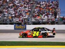 NASCAR - Gordon et ventilateurs de chemin Images stock