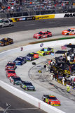 NASCAR - Gordon leads onto pit road Royalty Free Stock Photography