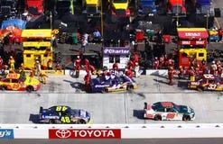 NASCAR - Gruben-Anschläge! stockfotos