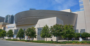 NASCAR Hall of Fame. CHARLOTTE NORTH CAROLINA JUNE 20 2016: NASCAR Hall of Fame. Opened in 2010 it honors drivers who have shown exceptional skill at NASCAR Royalty Free Stock Photography