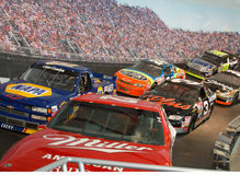 NASCAR Hall of Fame Race Cars Royalty Free Stock Image