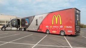 NASCAR Hauler for #1McDonalds Jamie McMurray. NASCAR hauler for Chip Ganassi Felix Sabates Racing Team Royalty Free Stock Photo