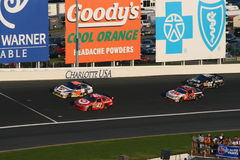 NASCAR - headed into Turn 3 at LMS Royalty Free Stock Photography