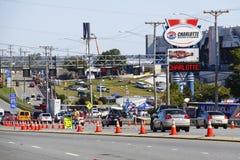 NASCAR - het PreRas Charlotte van het Verkeer van het Ras Stock Afbeelding