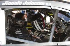 NASCAR Jimmie Johnson au caniveau d'International de Phoenix Photo libre de droits
