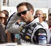 NASCAR Jimmie Johnson bij het Internationale Toevoerkanaal van Phoenix Stock Foto