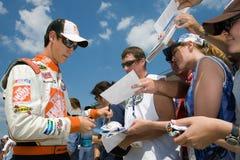 NASCAR: Joey Logano 14. August Carfax 400 Lizenzfreies Stockfoto
