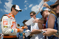 NASCAR:  Joey Logano Aug 14 Carfax 400 Royalty Free Stock Photo